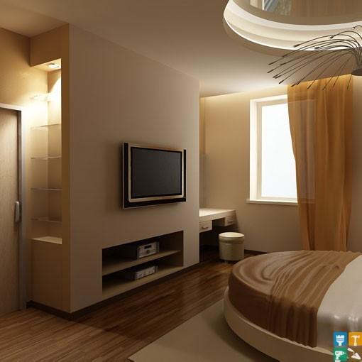 Дизайн квартиры у м. Новые Черемушки спальня