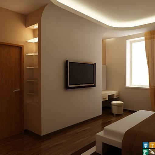 Дизайн квартиры у м. Новые Черемушки спальня коричневые тона ремонт