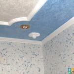 Оклейка потолков плиткой из пенопласта в Москве