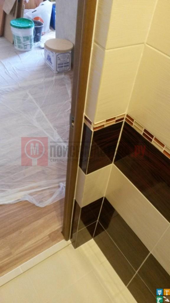 Ремонт раздельного санузла 5 кв.м. дверь