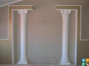 Установка колонн фото