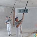 черновой работы потолок быстро