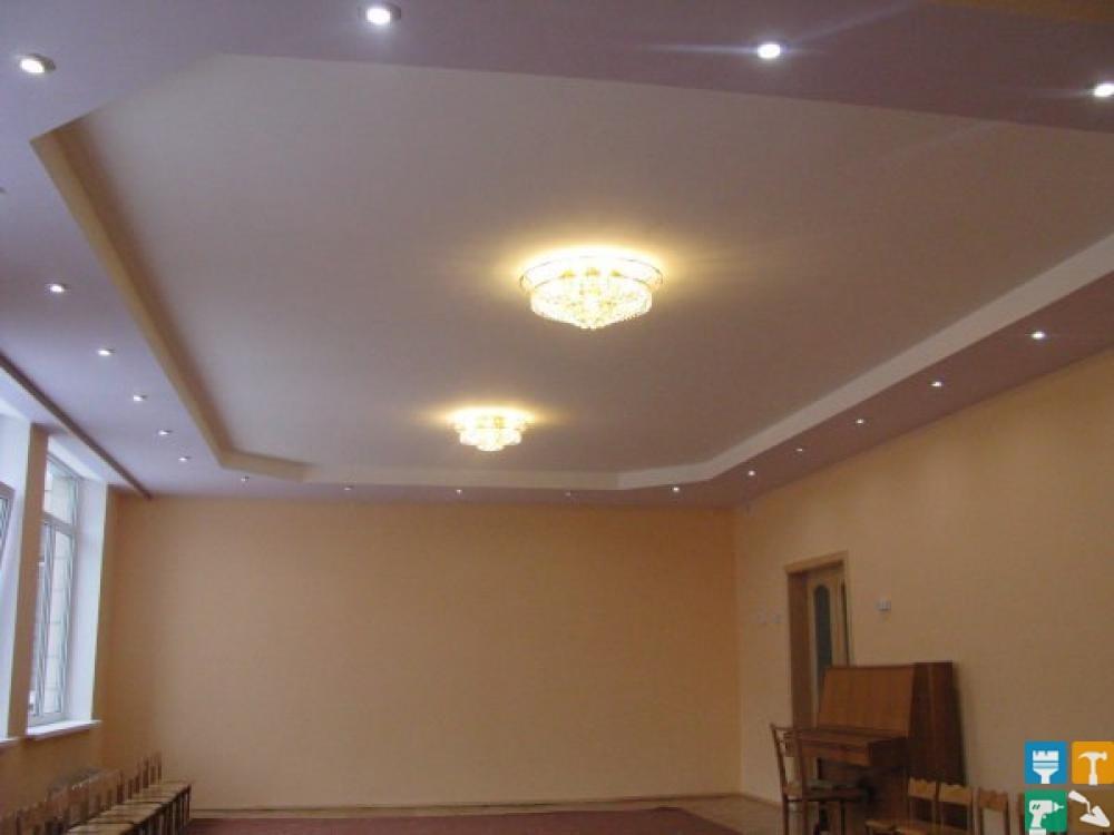 Натяжной потолок из гипсокартона