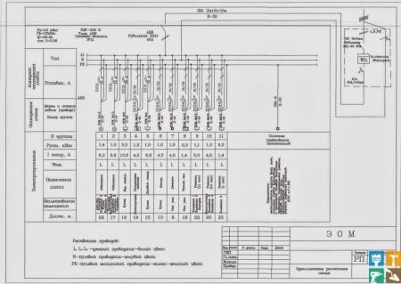 расчет электропроводки для кухни схема