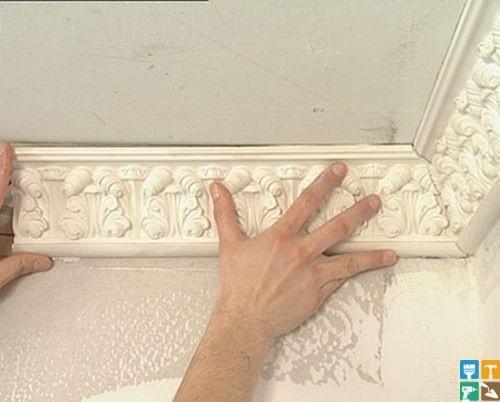 Как сделать лепнину из гипса на стене своими руками