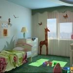 Примы отличных дестких комнат для мальчиков дизанй в зеленом цвете.