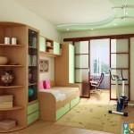 Примы отличных дестких комнат для мальчиков дизанй в зеленом цвете. модерн