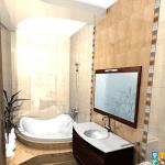 ремонта пятикомнатной квартиры ванна