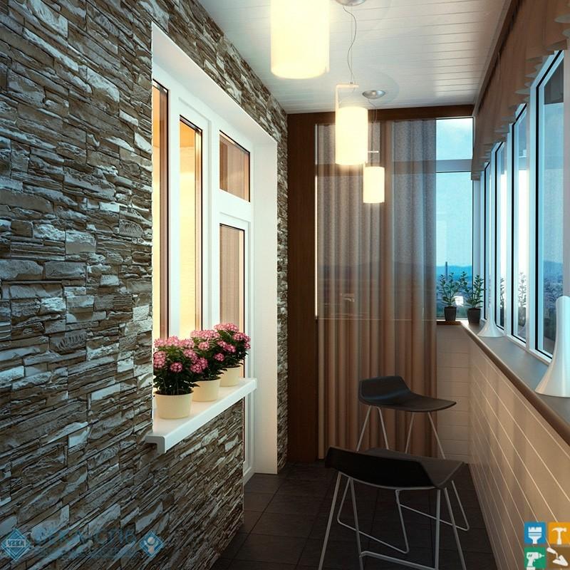Ремонт балкона под ключ,капитальный, евроремонт, косметичес.