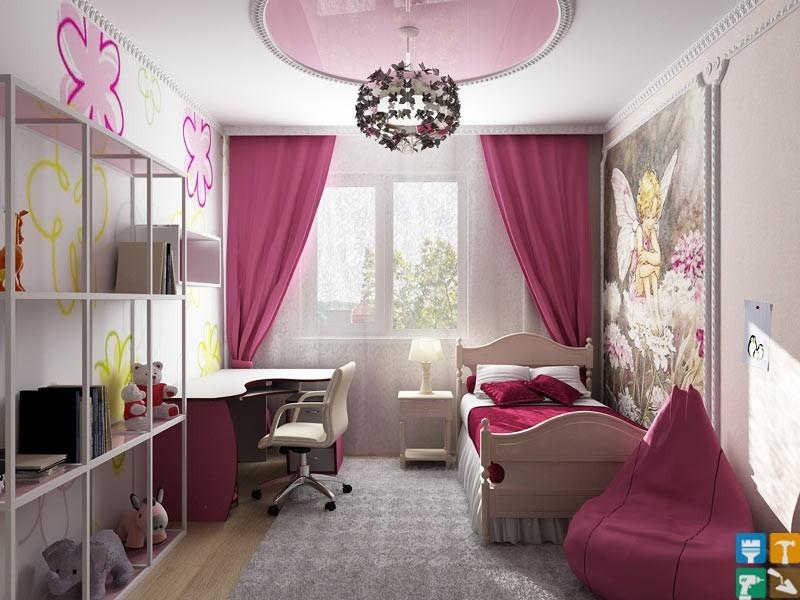 Ремонт детской комнаты для девочки3