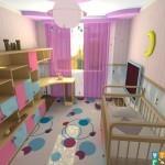 Ремонт детской комнаты для девочки6